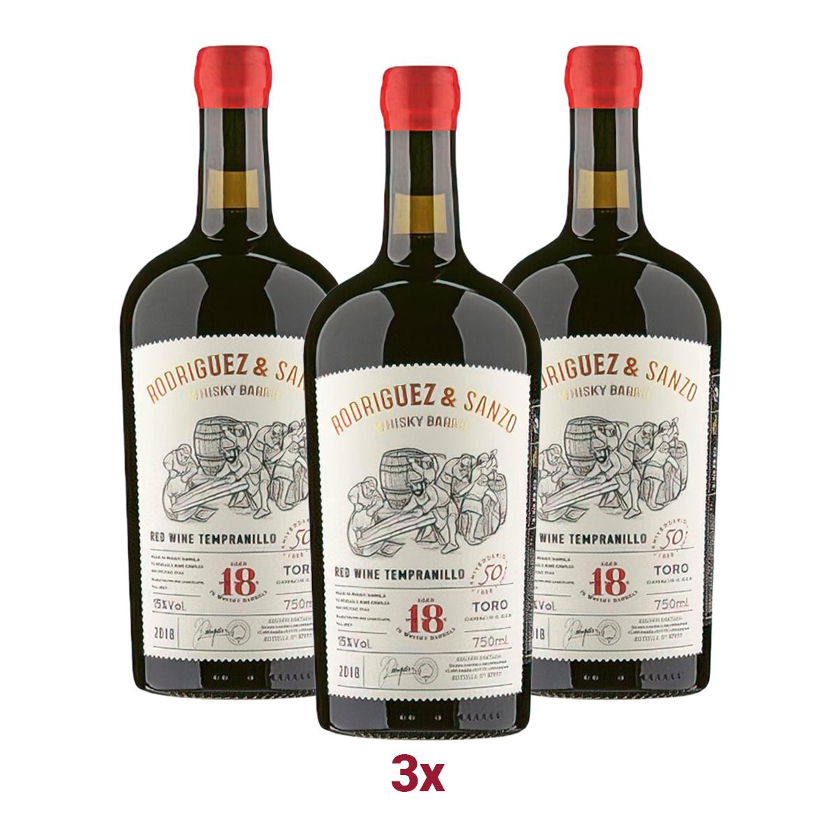 3x Rodriguez & Sanzo 2018 Tempranillo aus dem Whisky-Fass!